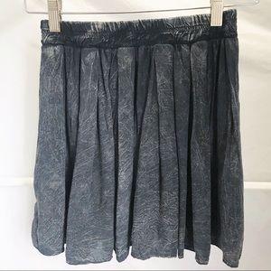 Brandy💗Melville Black Acid Wash Mini Skater Skirt